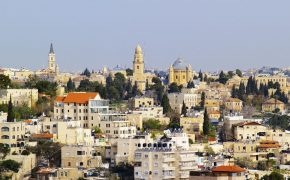 Cityscape of Jerusalem - the most famous place in Israel